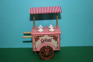 Eiswagen, weiß/rosa