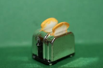 Toaster mit 2 Toastscheiben, 1:12