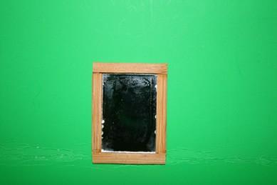 Spiegel, Rahmen Holz natur
