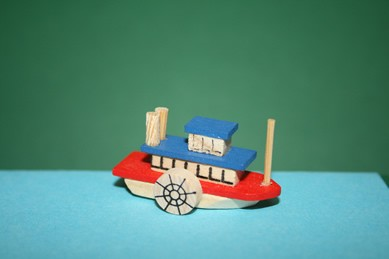 Raddampfer, Holz