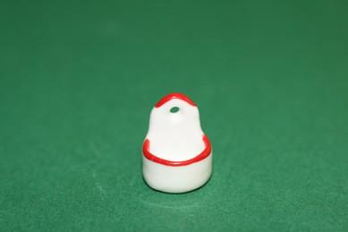 Vorrats-Hängebehälter weiß, roter Rand, 4 Stück, Porzellan, 1:12