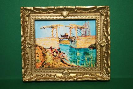"""Brücke in Holland"", Goldrahmen"