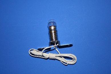 Beleuchtungssockel mit Kabel, Birne klar, 12 V.