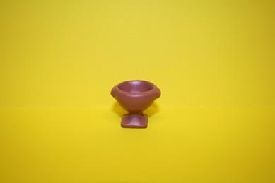 Terracotta Gartenvase Nr. 2, braun, mit Fuß