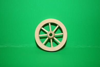 Wagen-Speichenrad, Holz natur