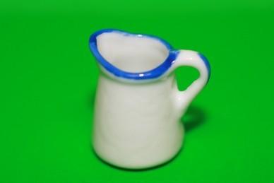 Kanne weiß, Keramik
