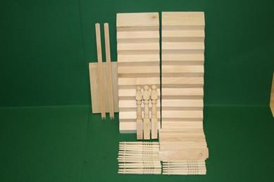 Podest-Treppe, Holz roh