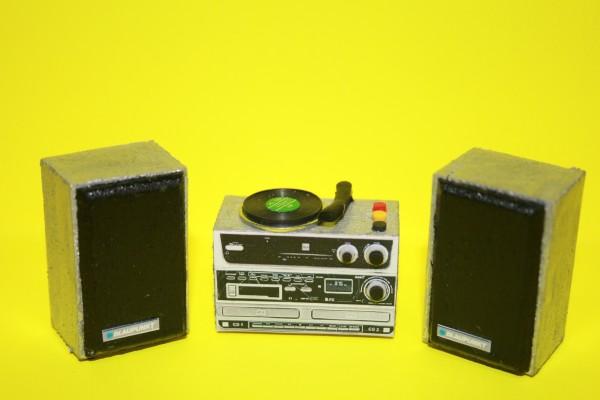 Miniatur Stereoanlage 1:12