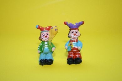 Clowns, Hose blau + Hose rot - 2 Stück