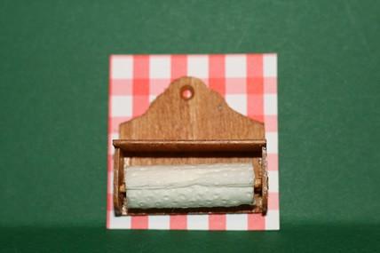 Küchenrollen-Halter, Holz, 1:12