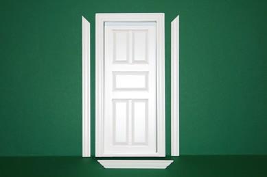 Innentüre weiß, Holz, mit Innenrahmen