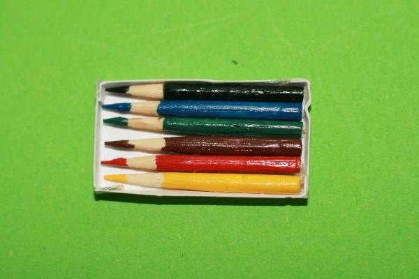 Buntstifte, 6 Stück in Schachtel