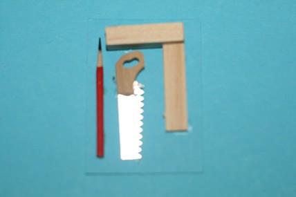 Bleistift, Säge und Winkel, 1:12