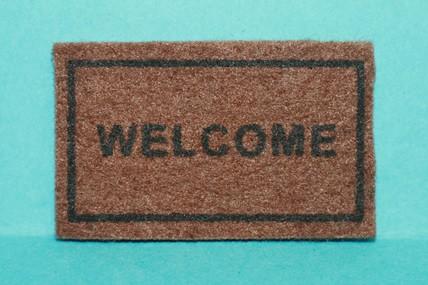 """Schuhabtreter braun, """"Welcome"""", 1:12"""
