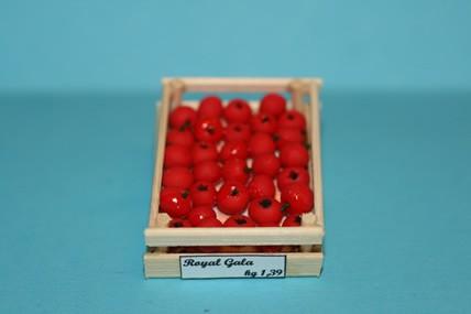 Obstkiste mit roten Äpfeln, 1:12