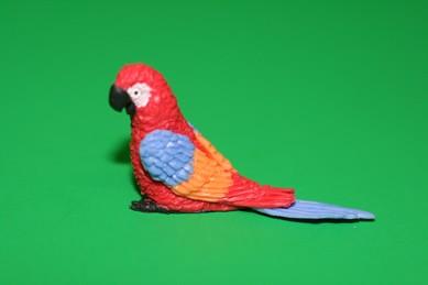 Papagei groß, rot/blau/orange/rot