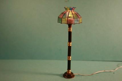 "Stehlampe ""Tiffany"", bunt, 1:12"