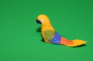 Papagei groß, gelb/grün/blau/orange
