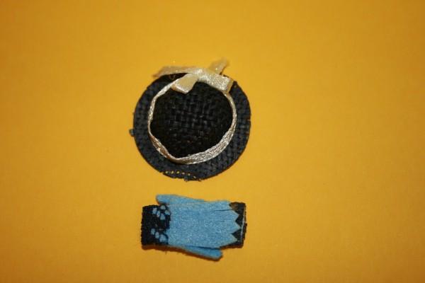 Hut und Handschuhe blau