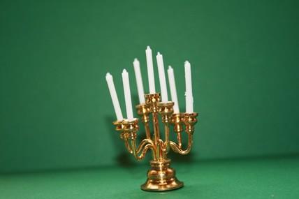 Messing-Leuchter, 7 Kerzen