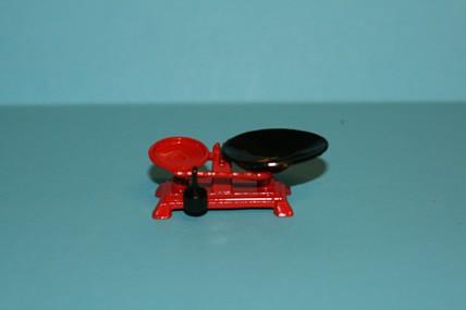 Waage rot/schwarz, Metall, 1:12