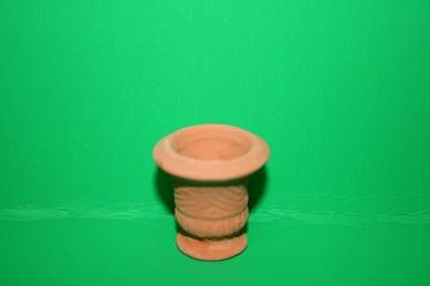 Terracotta-Gartenvase, rund mit rundem Fuß