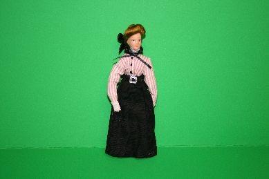 """Porzellan-Biegepuppe """"Frau"""", gestreifte Bluse"""