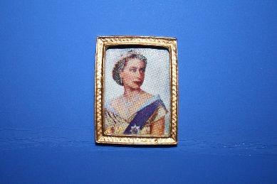"Miniatur-Bild ""Queen Elizabeth"", im Goldrahmen"