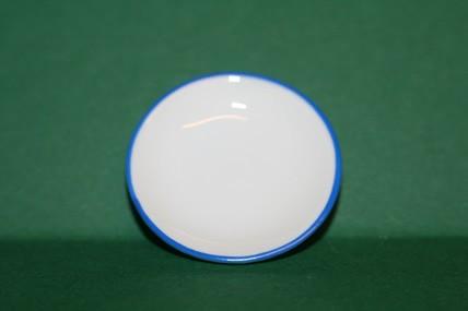 Porzellan-Teller weiß/blauer Rand, 1:12
