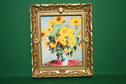 """Sonnenblumen"", Goldrahmen"
