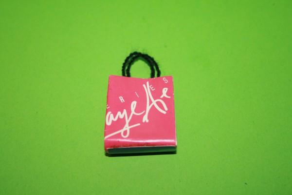 Einkaufstasche, Papier pink