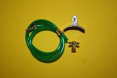 Gartenschlauch grün, mit Zubehör, 1:12