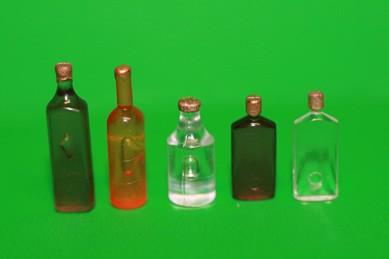 Flaschen gemischt Nr. 1, Kunststoff - 5 Stück