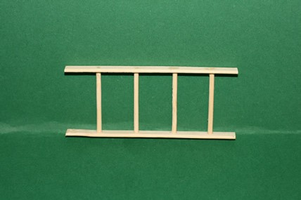 Holzleiter, 4 Sprossen