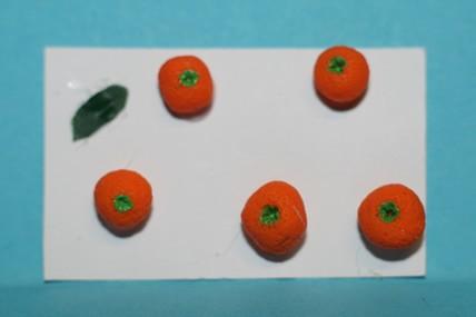 Orangen - 5 Stück, 1:12