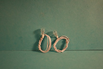 Glühbirnen klar, mit Kabel - 2 Stück, 1:12