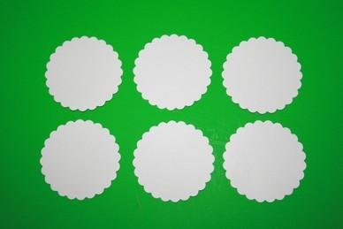 Kuchen-Untersetzer, dünner Karton, rund - 6 Stück