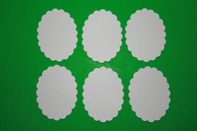 Untersetzer, dünner Karton, oval - 6 Stück