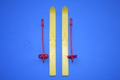 Skier, Kunststoff, gelb