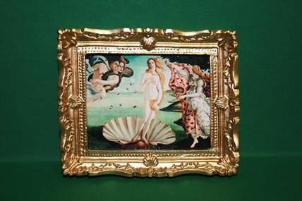 """""""Geburt der Venus"""", Goldrahmen"""