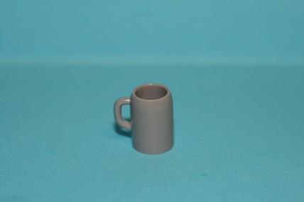 Maßkrug klein, Kunststoff grau, 1:12