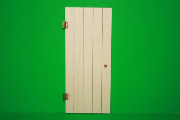 Miniatur Kellertüre mit Beschläge 1:12