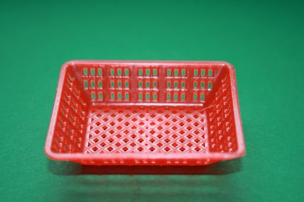 Plastik-Korb rot, eckig