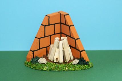 Lagerfeuer an der Mauer, Holz