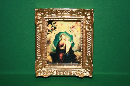 """Madonna mit Kind"" 2, Goldrahmen"