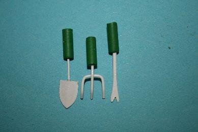 Gartengeräte fürs Beet, grün/weiß - 3 Stück