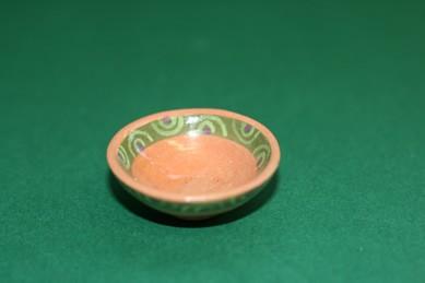 Schüssel braun, mit Muster, Keramik
