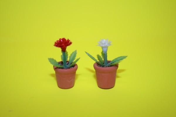 Miniatur Blümchen rot/gelb 1:12