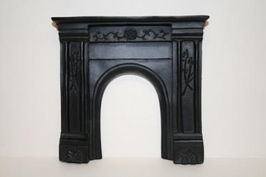 Kamin-Mantel schwarz, Resin
