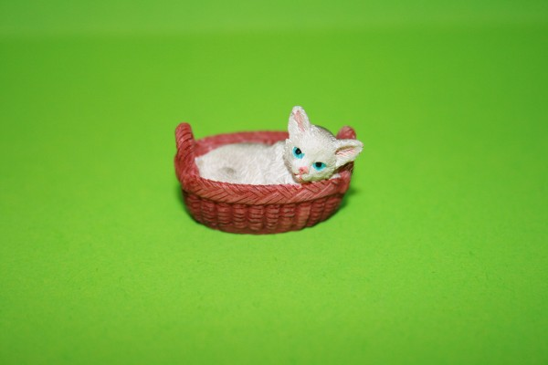 Kätzchen im Korb, Resin